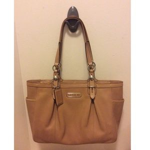 Coach Tan Leather Satchel Handbag
